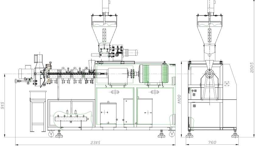 SN32 实验型多功能双螺杆挤出机