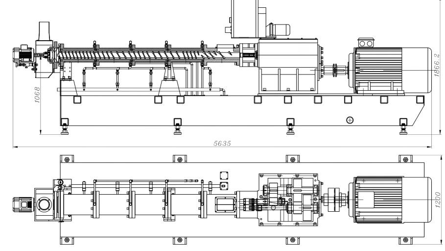 SNEP110 大型双螺杆挤出机